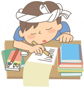 資格勉強で眠る