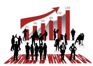 課長の役割を明確にし企業の成長を表す図